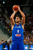 The italian power forward Danilo Gallinari during the game between Italy and Tunisia at 2016 FIBA Olympic Qualifying Tournament in Turin Italy on 4...