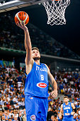 The italian power forward Danilo Gallinari during the match between Italy and Tunisia at 2016 FIBA Olympic Qualifying Tournament in Turin Italy on 4...