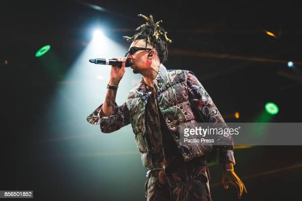 The Italian rapper Ghali performing live on stage at the Officine grandi Riparazioni