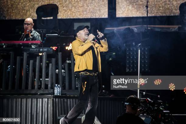 The Italian rock star Vasco Rossi celebrates his forty years of career with the mega concert Vasco Modena Park at Enzo Ferrai park in Modena with two...