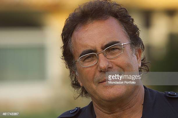 The italian singer Albano Carrisi in art Al Bano photograhed in his estate in Cellino San Marco 2002