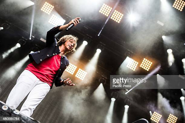 The Italian singer and songwriter Gianna Nannini performs during a live concert at the Moon and Stars Festival 2015