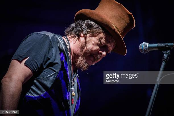 The italian singer and songwriter Zucchero Sugar Fornaciari pictured on stage as he performs at MoonampStars Festival 2017 in Locarno Switzerland on...