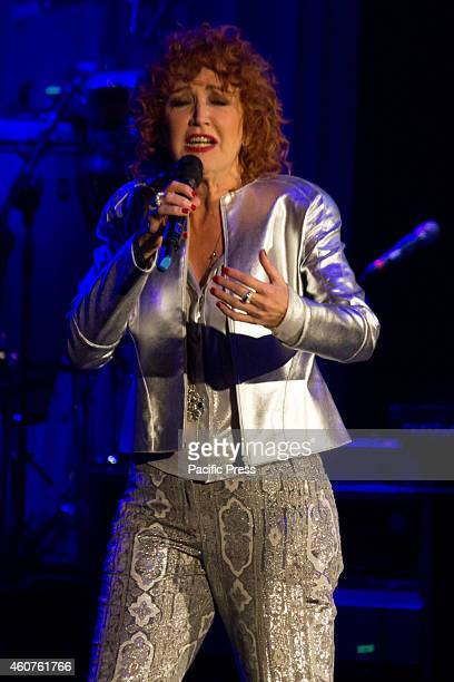 The Italian singer Fiorella Mannoia performs in a live soldout concert at Lingotto Auditorium