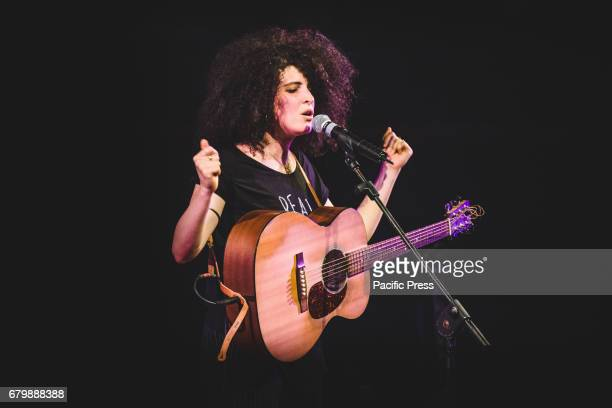 The Italian singer Marianne Mirage stage name of Giovanna Gardelli performs live at the Auditorium RAI in Torino opening the Patti Smith concert