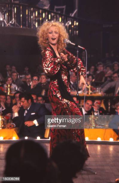 The Italian singer Patty Pravo during a show Madrid Spain