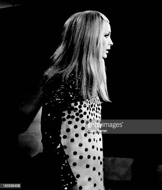 The Italian singer Patty Pravo in a performance in Spanish Televison 28th September 1968 Madrid Spain