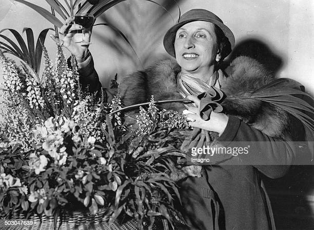 The Italian soprano Amelita GalliCurci at the Grosvenor House Hotel in London 5th January 1934 Photograph