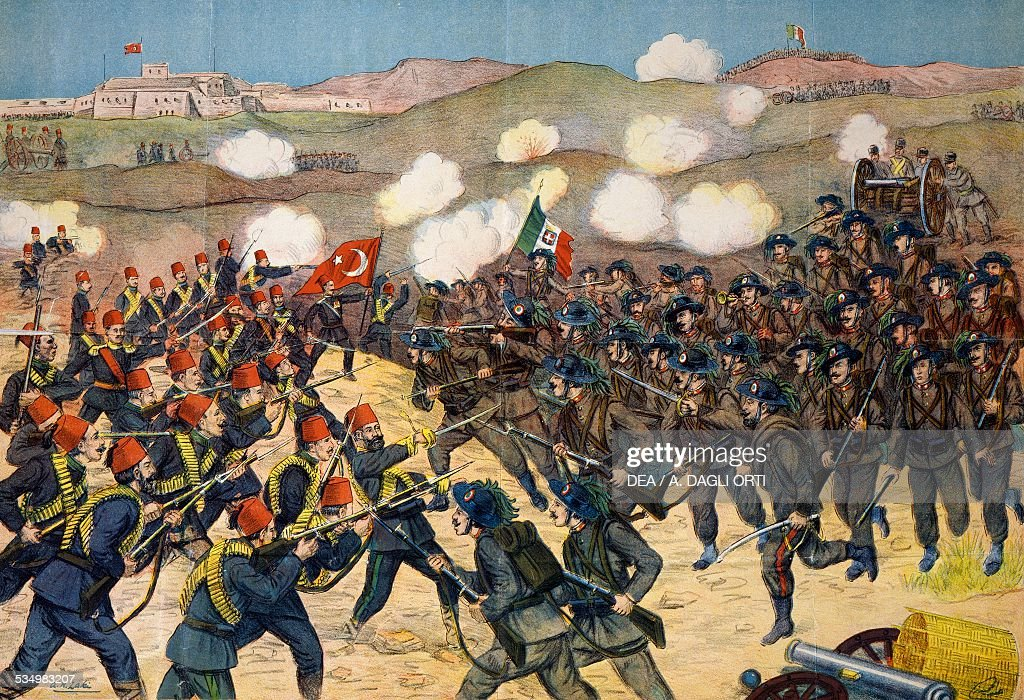 The Italian troops def...