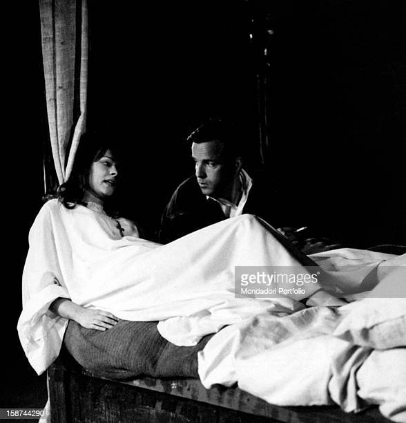 The Italian Scriptplay writer and director Franco Zeffirelli together with the British actress Judi Dench she was chosen by him for the part of...