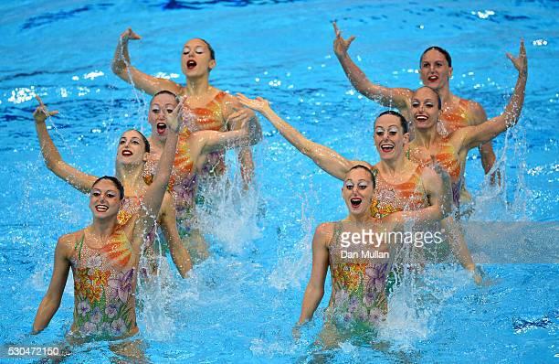 The Italy team consisting of Elisa Bozzo Beatrice Callegari Camilla Cattaneo Linda Cerruti Francesca Manila Flamini Mariangela Perrupato and Sara...
