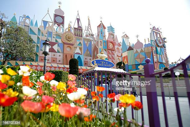 The 'It's A Small World' attraction stands at Tokyo Disneyland operated by Oriental Land Co in Urayasu City Chiba Prefecture Japan on Monday April 15...