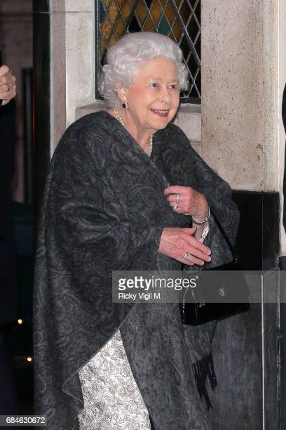 The Ivy by royal appointment Queen Elizabeth II visits iconic west end restaurant The Ivy West St for a friends birthday on May 18 2017 in London...