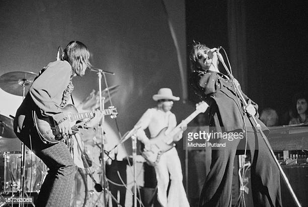 The J Geils Band perform at the Lyceum in London 30th June 1972 Left to right guitarist J Geils bassist Danny Klein and vocalist Peter Wolf