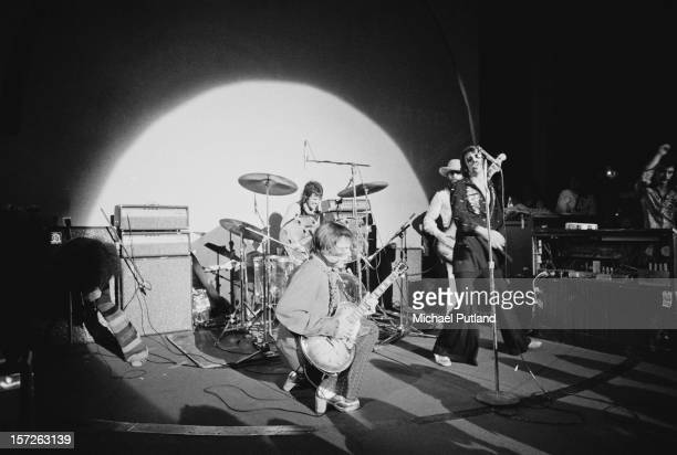 The J Geils Band perform at the Lyceum in London 30th June 1972 Left to right harmonica player Magic Dick guitarist J Geils and vocalist Peter Wolf