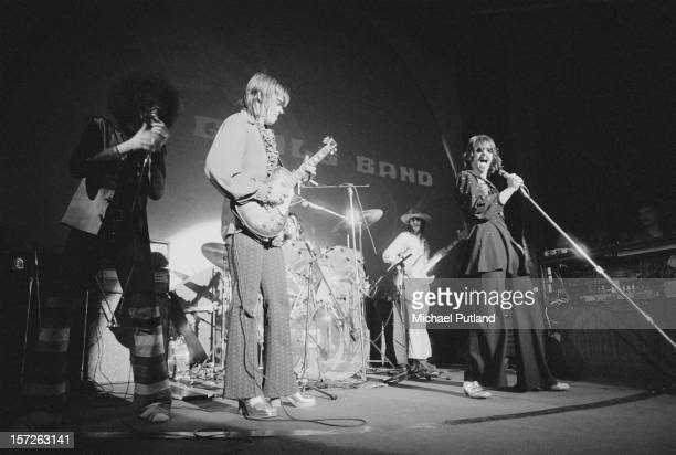 The J Geils Band perform at the Lyceum in London 30th June 1972 Left to right Magic Dick J Geils Stephen Bladd Danny Klein and Peter Wolf