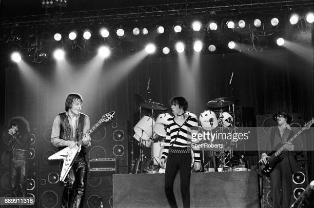 The J Geils Band performing at the Palladium in New York City on April 25 1980