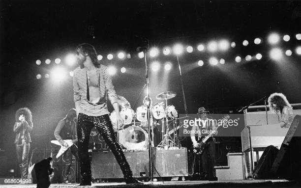 The J Geils Band performs at the Boston Garden in Boston on Feb 11 1979 From left are Magic Dick J Geils lead vocalist Peter Wolf Stephen Bladd Danny...