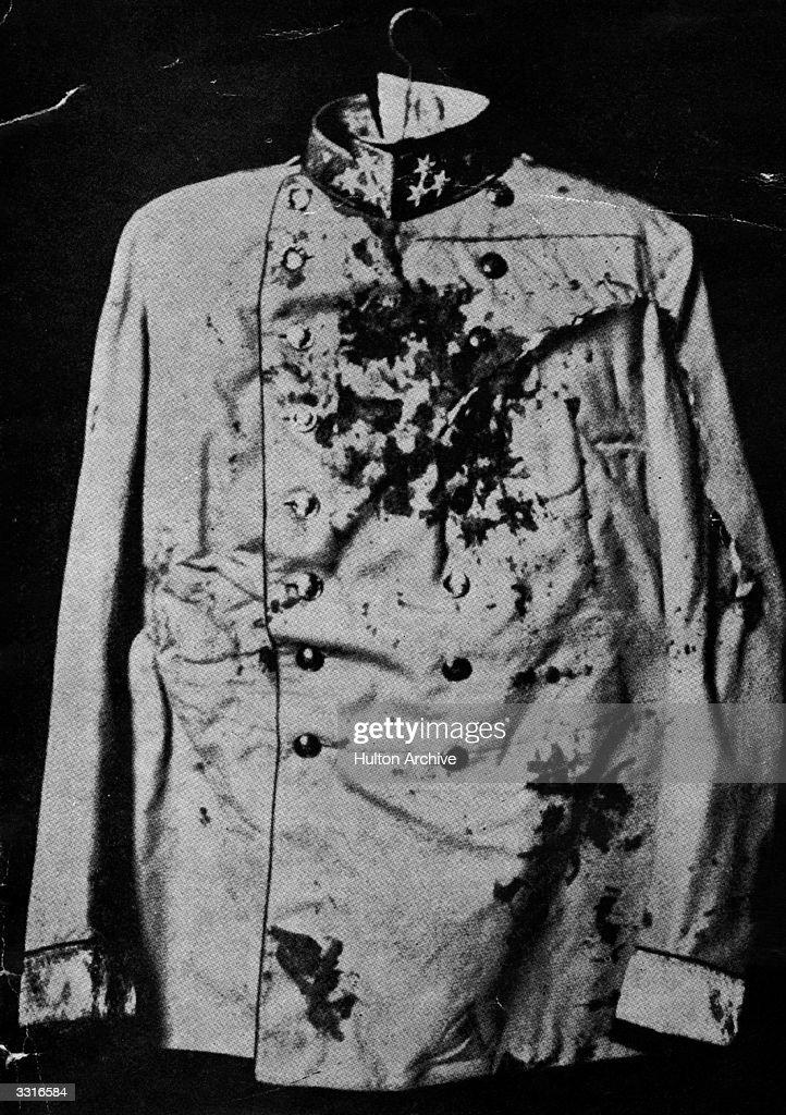 The jacket worn by Archduke Franz Ferdinand when he was assassinated in Sarajevo on June 28th 1914.
