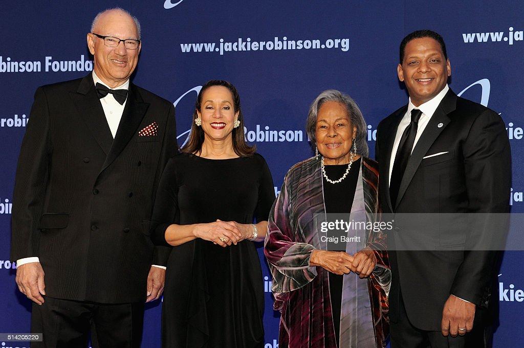 The Jackie Robinson Foundation's Honorary Chairman of the Board Leonard S Coleman Jr President and CEO Della Britton Baeza Founder Rachel Robinson...