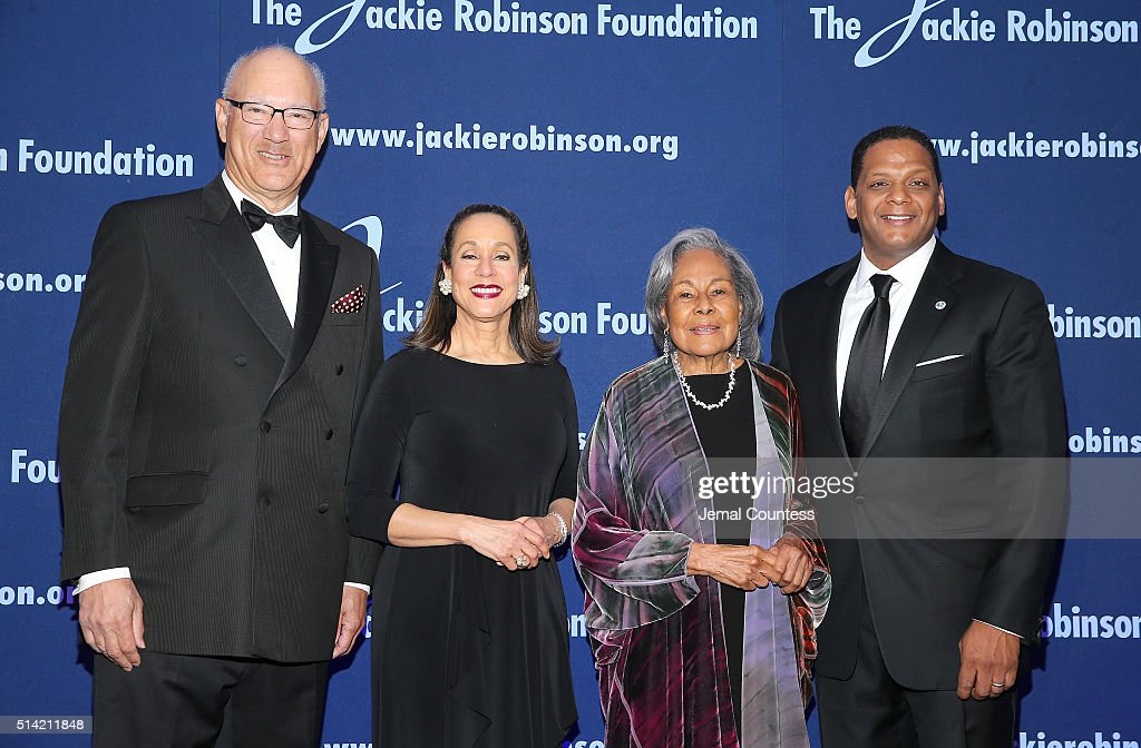 The Jackie Robinson Foundation's Honorary Chairman of the Board Leonard S Coleman Jr Jackie Robinson Foundation President and CEO Della Britton Baeza...