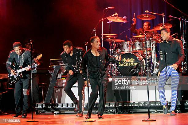 The Jacksons Tito Jackie Marlon and Jermaine Jackson performs at the Music Box at the Borgata on July 27 2013 in Atlantic City New Jersey