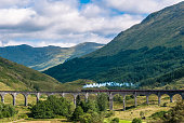 The Jacobite train over Glenfinnan viaduct (Hogwarts Express)
