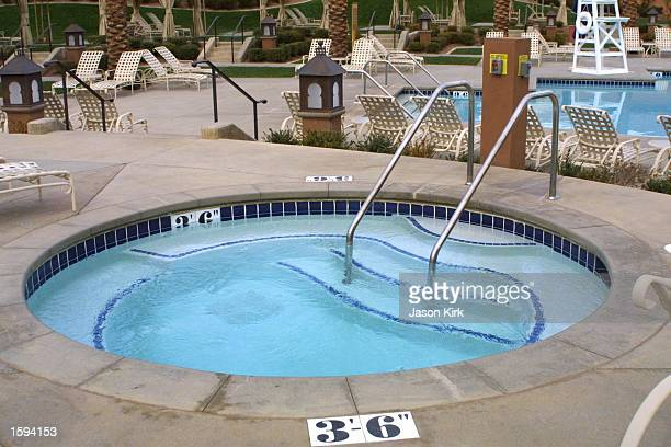 The jacuzzi at the Hyatt Regency hotel is seen February 14 2001 in Las Vegas NV Actresses Julia Roberts and Catherine ZetaJones who are filming...