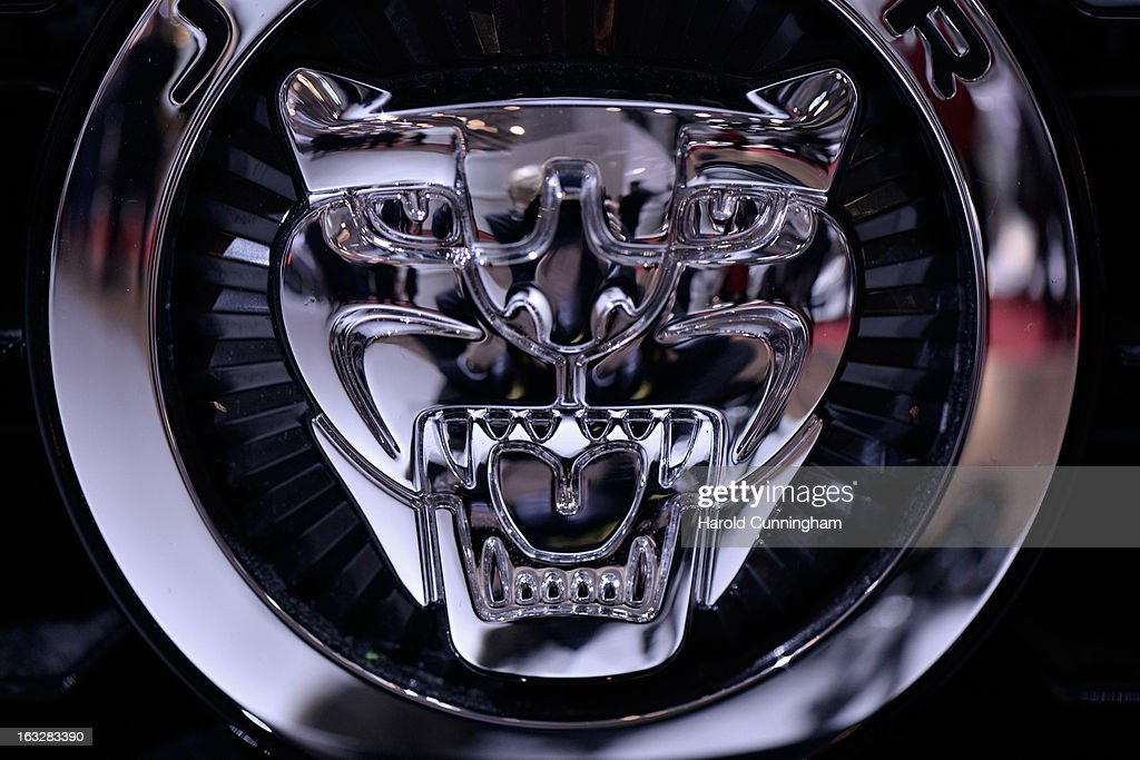 The Jaguar logo is seen during the 83rd Geneva Motor Show on March 6, 2013 in Geneva, Switzerland. Held annually with more than 130 product premiers from the auto industry unveiled this year, the Geneva Motor Show is one of the world's five most important auto shows.