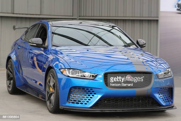 The Jaguar XE SV Project 8 at an exclusive customer preview which introduced three new vehicles from Jaguar Land Rover's Special Vehicle Operations...