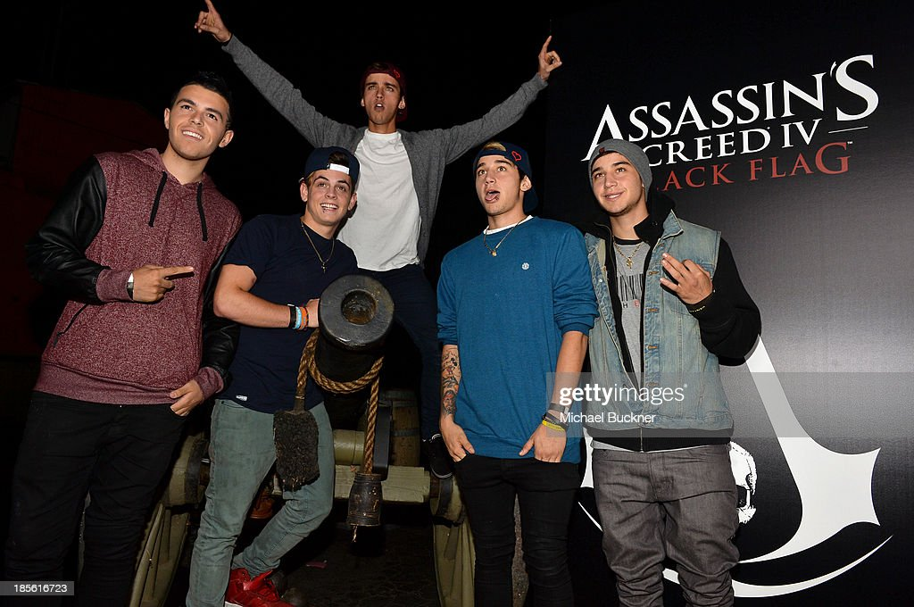 The Janoskians attend the Assasin's Creed IV Black Flag Launch Party at Greystone Manor Supperclub on October 22, 2013 in West Hollywood, California.