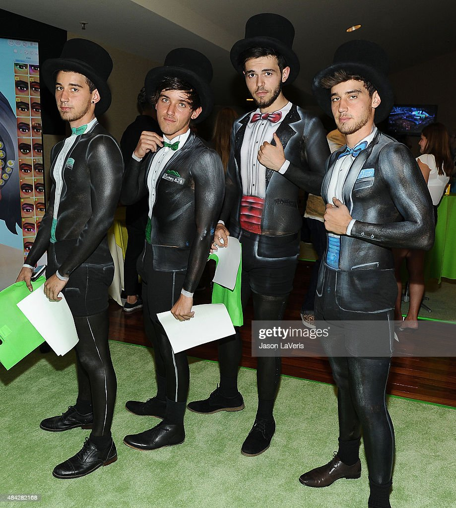 The Janoskians pose in the green room at the 2015 Teen Choice Awards at Galen Center on August 16, 2015 in Los Angeles, California.