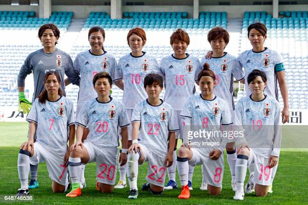 The Japan team pose Sakiko Ikeda Yuri Kawamura Mizuho Sakaguchi Hikari Takagi Kaede Nakamura Saki Kumagai Emi Nakajima Kumi Yokoyama Yuka Momiki...