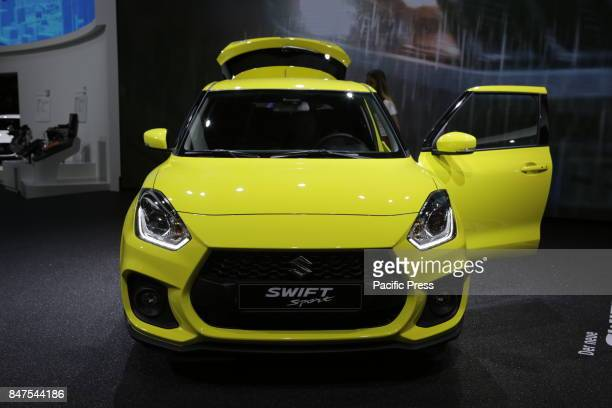 FRANKFURT FRANKFURT HESSE GERMANY The Japanese car manufacturer Suzuki presents the Suzuki Swift Sport at the 67 IAA The 67 Internationale...