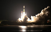 The Japanese cargocarrying rocket H2B lifts off from the launch pad of the southern island of Tanegashima on August 4 2013 Japan launched a...