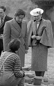 The Japanese Royal Couple Crown Prince Akihito and Crown Princess Michiko during their visit to Craggaunowen County Clare an early simulated...