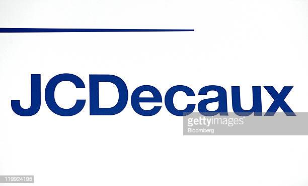 The JCDecaux company logo is displayed in Gennevilliers France on Tuesday July 26 2011 JCDecaux is the world's secondlargest seller of outdoor...