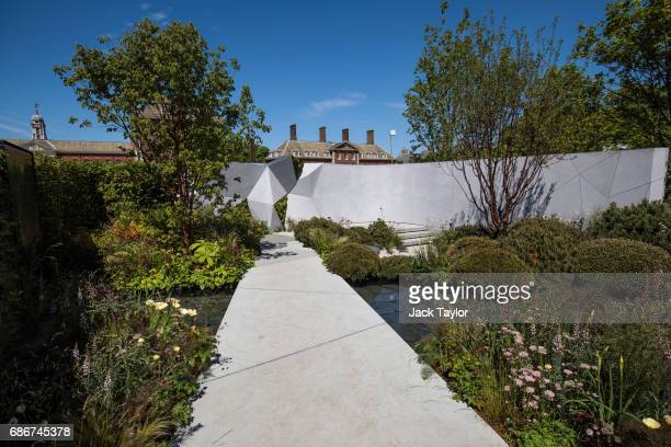 The 'Jeremy Vine Texture Garden' on display at the Chelsea Flower Show on May 22 2017 in London England The prestigious Chelsea Flower Show held...