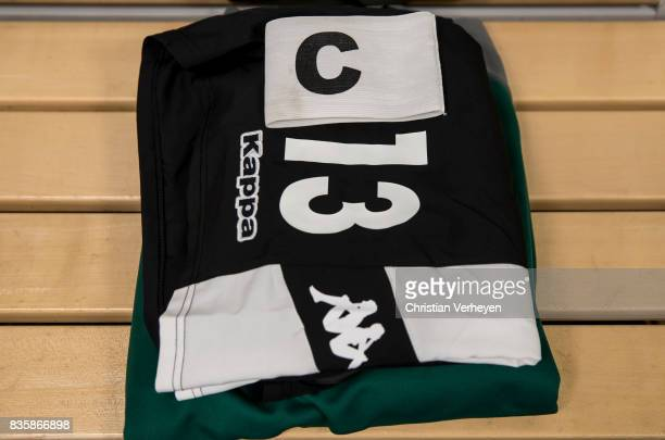 The Jersey of Lars Stindl at the dressing room ahead the Bundesliga match between Borussia Moenchengladbach and 1 FC Koeln at BorussiaPark on August...
