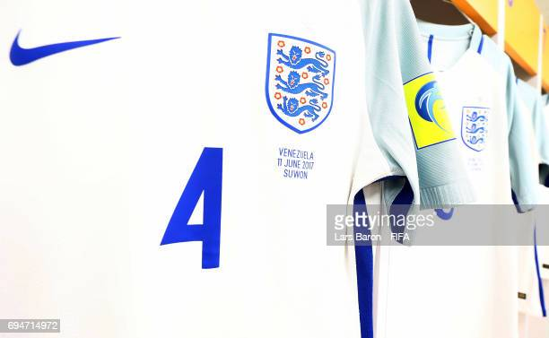 The jersey of Lewis Cook of England is seen in the dressing room prior to the FIFA U20 World Cup Korea Republic 2017 Final match between Venezuela...