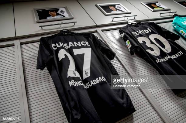 The jersey of Michael Cuisance of Borussia Moenchengladbach prior the Bundesliga match between Borussia Moenchengladbach and Hannover 96 at...