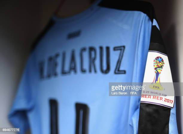 The jersey of Nicolas de la Cruz of Uruguay is seen in the locker room prior to the FIFA U20 World Cup Korea Republic 2017 3rd rank playoff match...