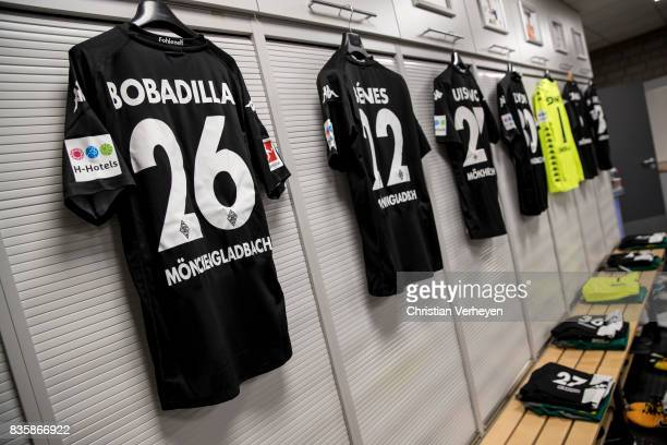 The Jersey of Raul Bobadilla at the dressing room ahead the Bundesliga match between Borussia Moenchengladbach and 1 FC Koeln at BorussiaPark on...