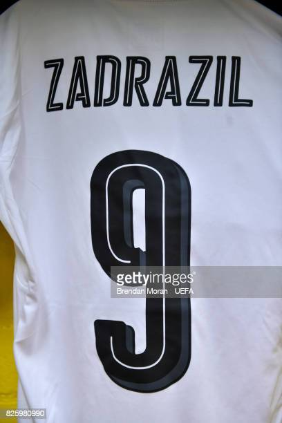 The jersey of Sarah Zadrazil in the Austria dressingroom prior to the UEFA Women's EURO 2017 Semifinal match between Austria and Denmark at Rat...