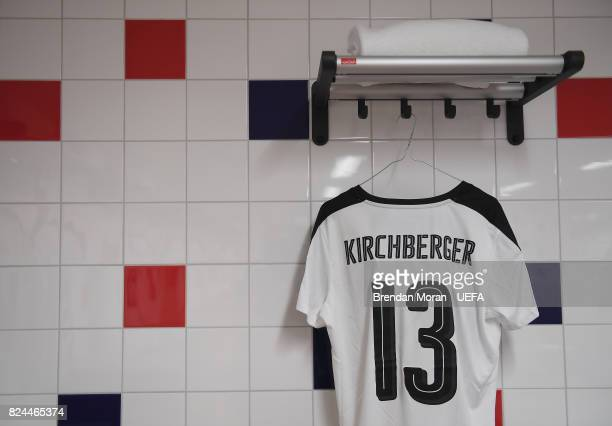 The jersey of Virginia Kirchberger in the Austria dressingroom prior to the UEFA Women's EURO 2017 Quarterfinal match between the Austria and Spain...
