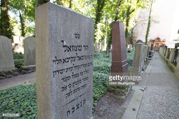 The Jewish cementery Prenzlauer Berg in Berlin The photo shows different tombstones