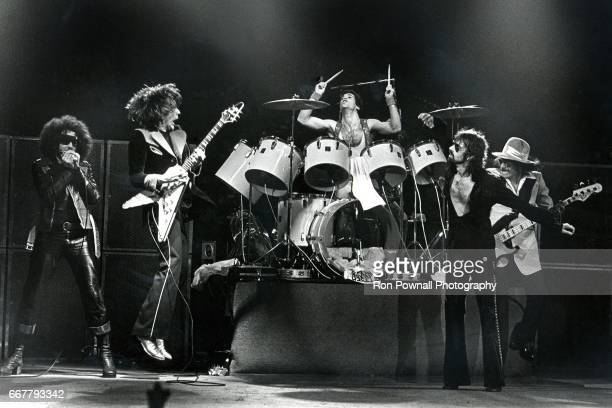 The JGeils Band perfoms at the Boston Music Hall in May 1973 in Boston Massachusetts