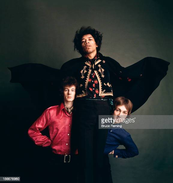 The Jimi Hendrix Experience London Spring 1967 Left to right bassist Noel Redding guitarist Jimi Hendrix and drummer Mitch Mitchell The portrait was...