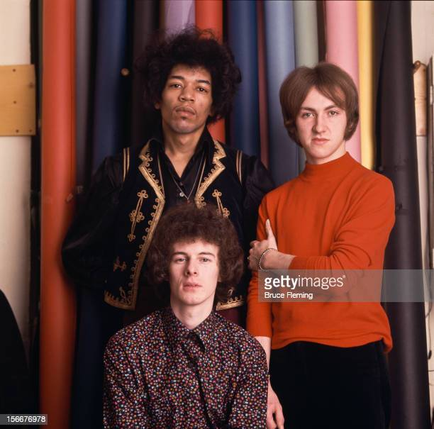 The Jimi Hendrix Experience London Spring 1967 Left to right guitarist Jimi Hendrix bassist Noel Redding and drummer Mitch Mitchell