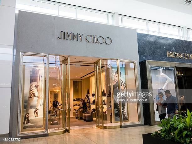 The Jimmy Choo retail store inside the Yorkdale Mall on July 16 2015 The shop is one of many high end luxury retailers within the mall